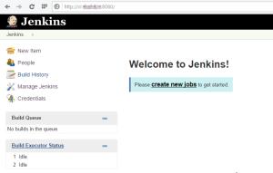 Панель Jenkins после установки