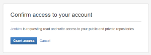 Подтверждение доступа через Bitbucket